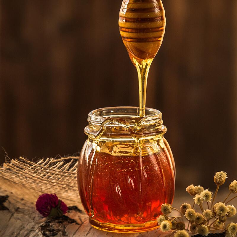 Honning i Banan Peanut Butter Smoothie med Mælk og Havregryn