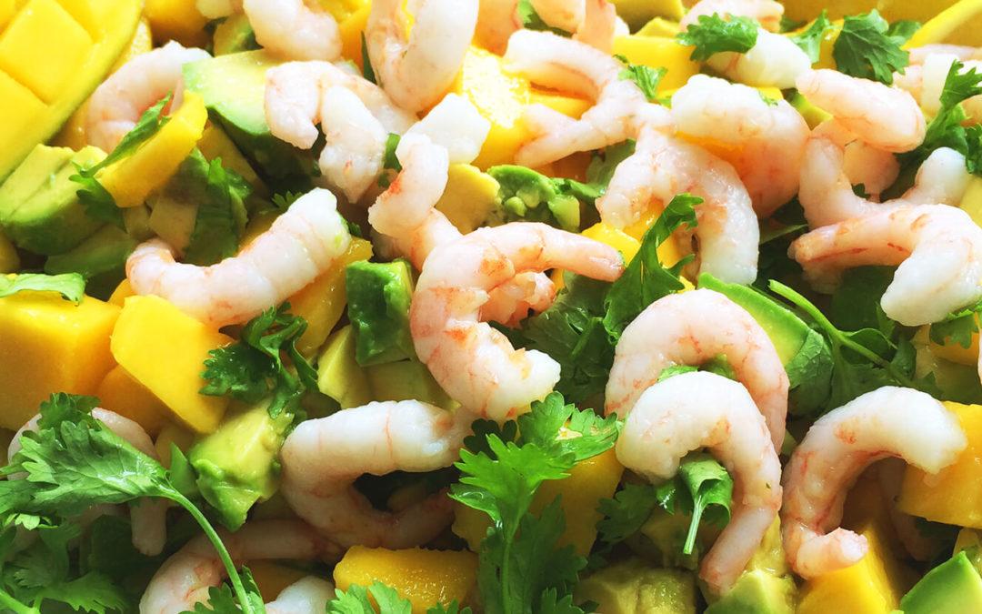 Mango Salat med Rejer og Avocado