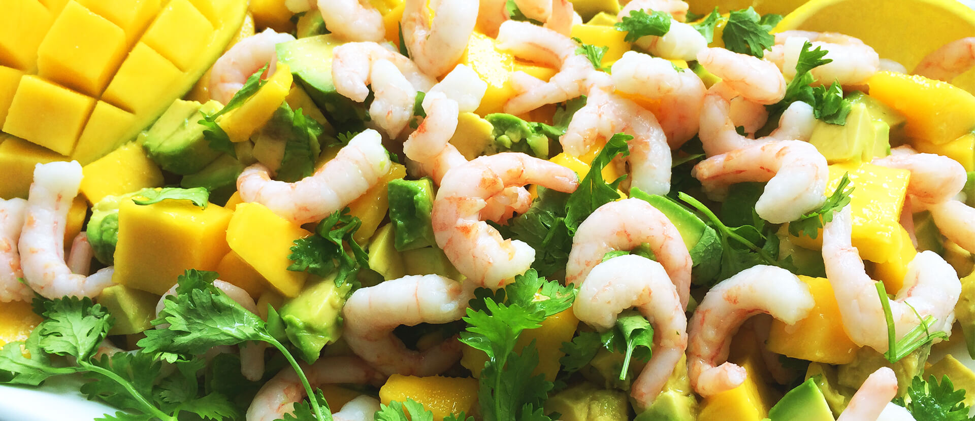 Mango Salat Med Rejer Og Avocado Få Opskrift Tryk Her