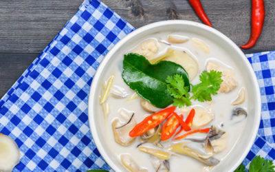 Kyllingesuppe med Kokos (Tom Kha Gai)