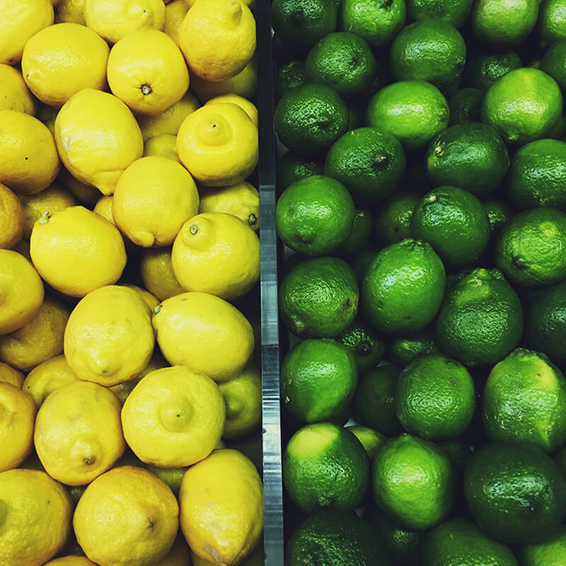 Lime og Citron i Mynte og Ingefær Splash