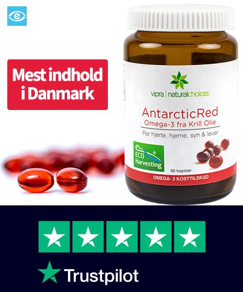 Køb AntarcticRed Krill Olie - Mest Indhold i Danmark 2020