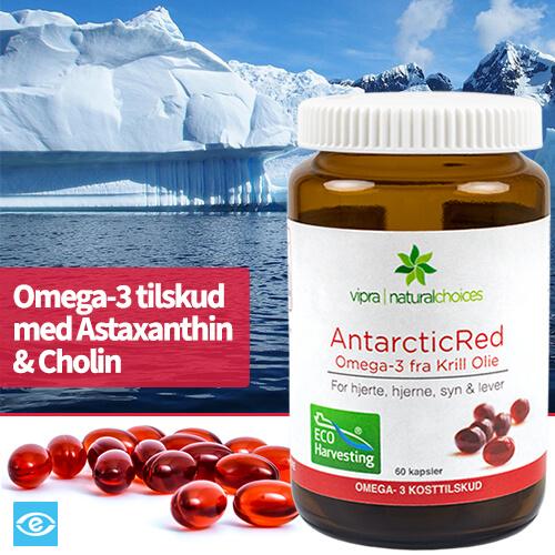 Køb AntarcticRed Omega-3 Krill Olie - Bæredygtig & Naturlig Kosttilskud