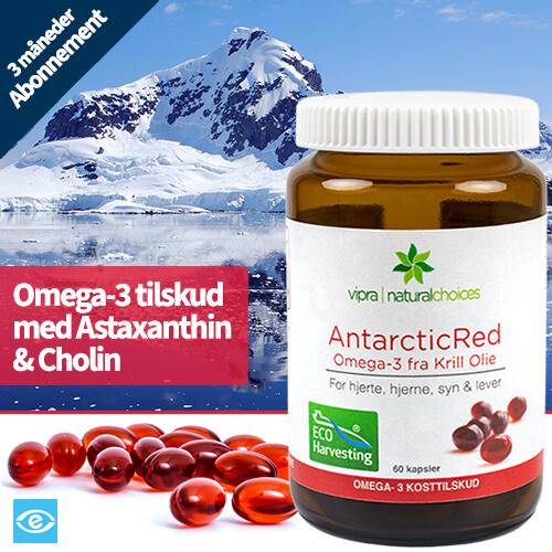 Køb 3 Måneders Abonnement AntarcticRed Omega-3 Krill Olie