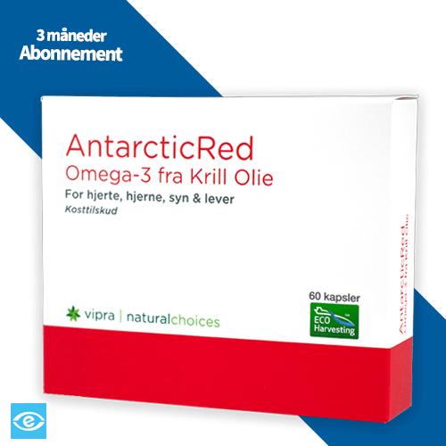 Køb Abonnement AntarcticRed Omega-3 Krill Olie - Bæredygtig & Naturlig Kosttilskud