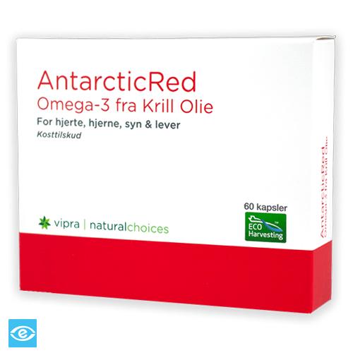 Køb AntarcticRed Omega-3 Krill Olie - med Cholin & Astaxanthin